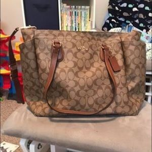 Gently used authentic Coach baby diaper bag